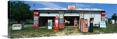 Vintage Signs on Garage TX