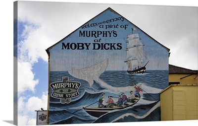 Wall Mural on the Moby Dick Pub Wall, Youghal, County Cork, Ireland