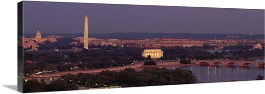Washington DC, aerial, night