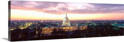 Washington DC, Capitol Building, twilight