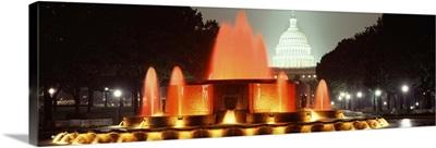 Washington DC, fountain, night