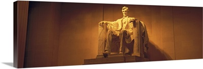 Washington DC, Lincoln Memorial, Low angle view of the statue of Abraham Lincoln