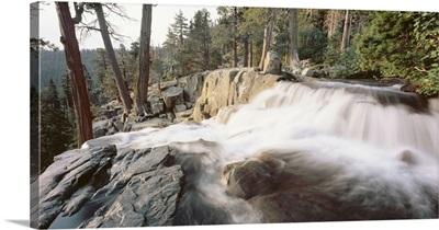 Water flowing at a waterfall, Emerald Bay, Lake Tahoe, California
