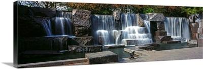 Waterfall at a memorial Franklin Delano Roosevelt Memorial Washington DC