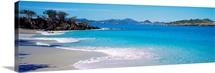 Waves crashing on the beach, Turtle Bay, Caneel Bay, St. John, US Virgin Islands