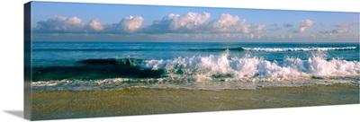 Waves crashing on the beach, Varadero beach, Varadero, Matanzas, Cuba