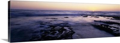 Waves in the sea Childrens Pool Beach La Jolla Shores La Jolla San Diego California