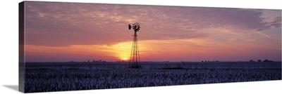 Windmill Cornfield Edgar County IL