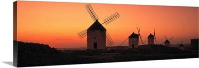 Windmills La Mancha Spain