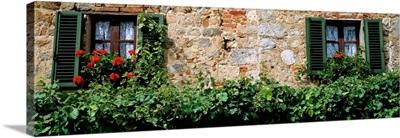 Windows Monteriggioni Tuscany Italy