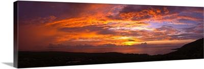 Winter Solstice over the Pacific ocean, Kealakekua Bay, Kona Coast, Kona, Hawaii