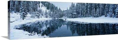 Winter Stream Tahoe CA