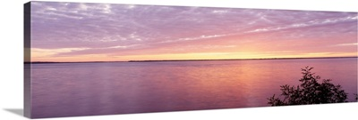 Wisconsin, Castle Rock Lake, sunset