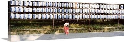 Woman at Shinto Shrine Tokyo Japan