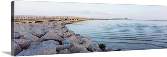 Wooden bridge over the sea, Nags Head, Dare County, North Carolina