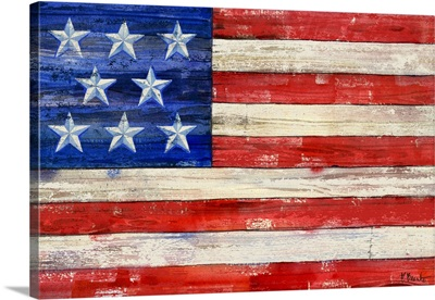 All Amercian Flag Horizontal