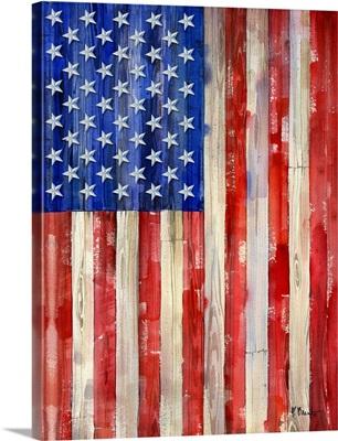 All American Flag Vertical II