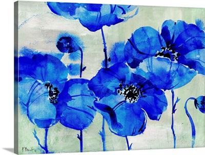 Amalfi Poppies - Blue