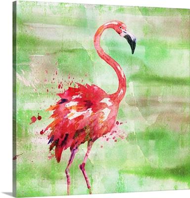 Arianna Flamingo I - Green