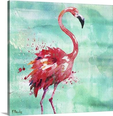 Arianna Flamingo I - Turquoise