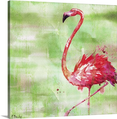 Arianna Flamingo II - Green