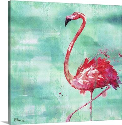 Arianna Flamingo II - Turquoise