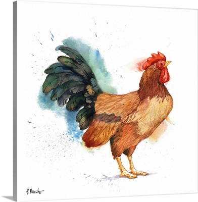 Arianna Rooster III - White
