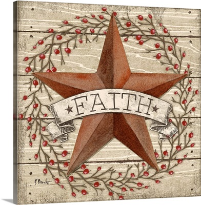 Barn Star with Berries I