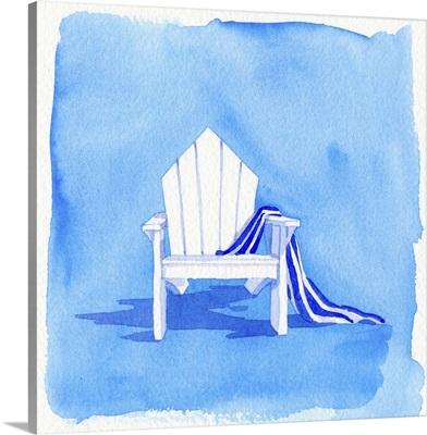 Beach Chair - Blue Towel