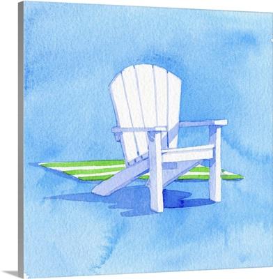 Beach Chair - Green Towel