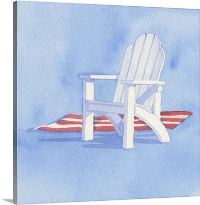 Beach Chair - Red Towel