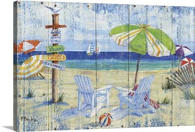 Beach Signs - Adirondack Chairs