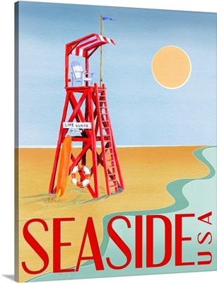 Beach Watch Poster I