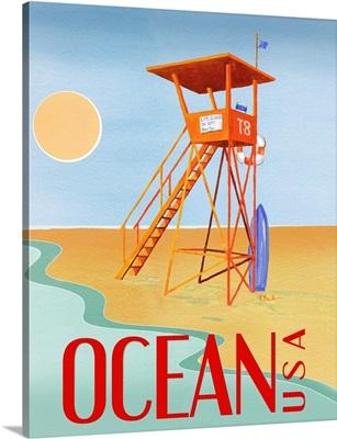 Beach Watch Poster II
