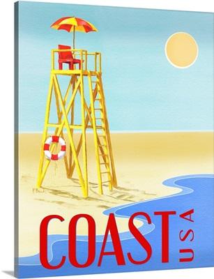Beach Watch Poster III