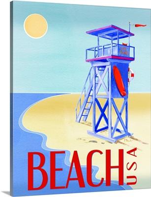 Beach Watch Poster IV