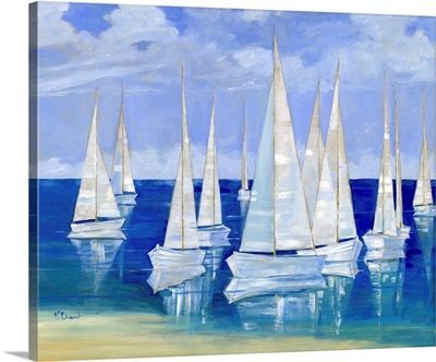 Blanco Beach Sailboats