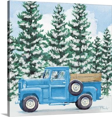 Blue Winter Truck