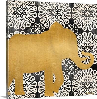 Boho Elephant I - Black