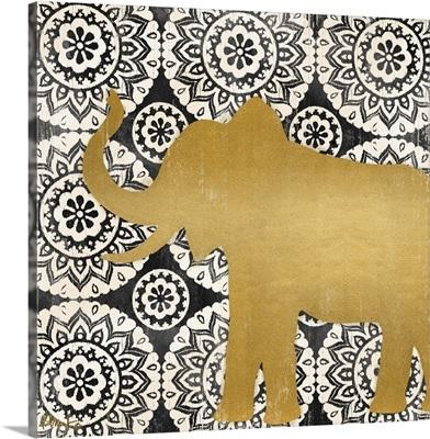 Boho Elephant II - Black