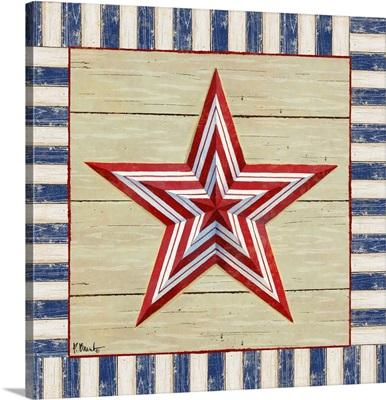 Bordered Patriotic Barn Star I
