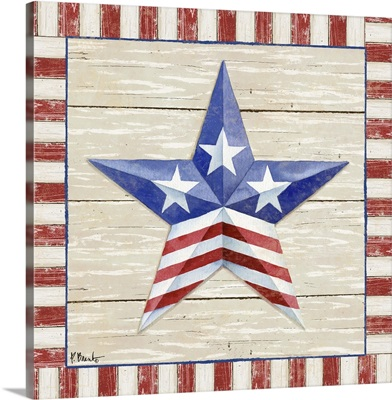 Bordered Patriotic Barn Star II