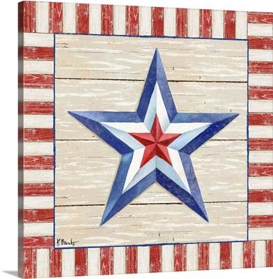 Bordered Patriotic Barn Star III