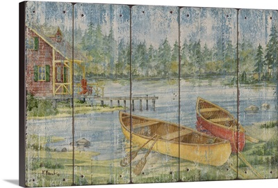 Canoe Camp with Cabin - Distressed