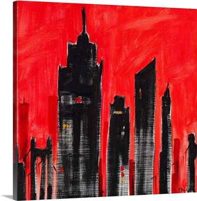 Cityscape Red