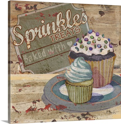 Cupcake Baking Sign III