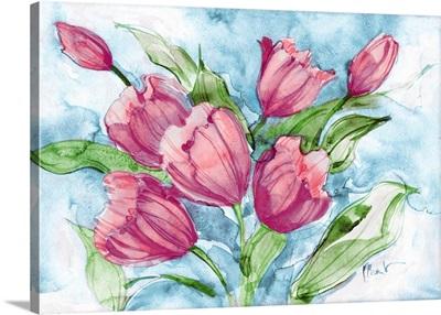 Fresh Tulips - Magenta