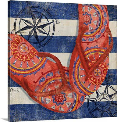 Nautical Flip Flops I