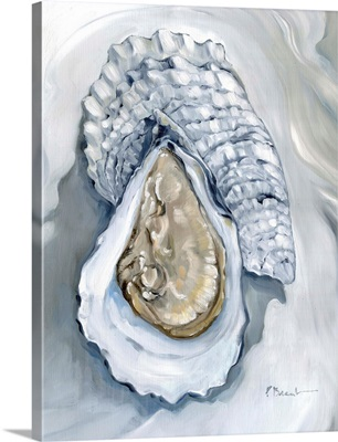 Oysters Close Up VII - White