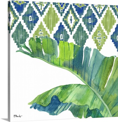 Palm Fronds IV - Blue